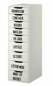 Make Up Organiser Quality Vinyl Sticker Label Any Word/Colour Mrs Hinch Inspired