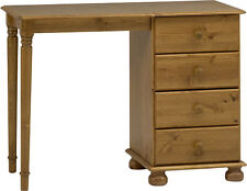 Steens Richmond Solid Pine 4 Drawer Single Dressing Table Metal Drawer Runners