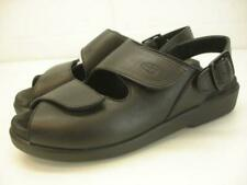 Womens 5 5.5 M 36 Wolky Nimes Black Leather Sandals Slingback Adjustable Comfort
