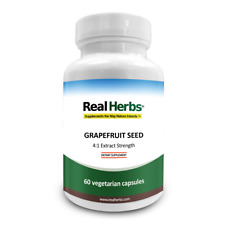 REAL HERBS GRAPEFRUIT SEED EXTRACT 4:1 700MG - 60 VEGETARIAN CAPSULES