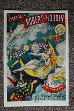 Robert Houdin magician poster #10 1891 Les Farces De La Lune