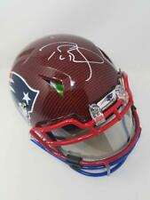 TOM BRADY Autographed Authentic Red/Black Hydro Dipped Helmet STEINER LE 12/12