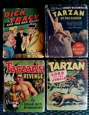 Big Little Books (lot of 4) Dick Tracy Tarzan's Revenge, Lord of the Jungle