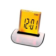 Portable 7 LED Color Changing Digital LCD Home Thermometer Calendar Alarm Clock