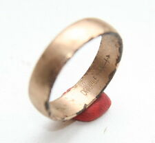 Antique Old Finger Ring With Inside Inscription (Size 10,5 USA)