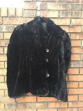 Black Rabbit fur shawl/ Cape