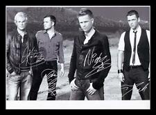 WESTLIFE AUTOGRAPHED SIGNED & FRAMED PP POSTER PHOTO