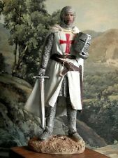 Hand Painted Medieval Crusader  Knight of Malta Templar Figure 15,5 cm Realistic