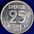 25 ORE 1953 TS SVEZIA SWEDEN ARGENTO SILVER #1406A