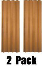 "(2) ea LTL Home VS3280KL 32-36"" x 80"" Oak Finish Folding Accordion Vinyl Doors"