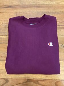 NEW CHAMPION CREW SWEATSHIRT MENS Small REVERSE WEAVE CREWNECK PURPLE NWT