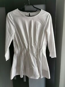 COS White Cotton Peplum blouse/Shirt