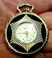 Vintage Chancellor Ladies Pendant Watch Necklace/Fob/Chain Swiss Made 37mm