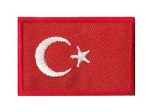 Drapeau écusson patche Turquie Turc petit patch thermocollant 45x30 mm