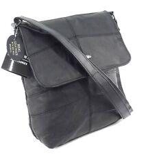 Men Women's Genuine Real  Leather Across Body Bag Handbag Messenger Shoulder Bag