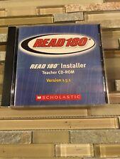 Read 180 Installer Cd-Rom Version 1.5.1 Scholastic B1
