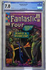 Fantastic Four 37 CGC 7.0 OW/W 1965 Kirby art, Skrull App. 1st series