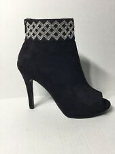 Caparros Electra Embellished Cuff Peep Toe Booties Size 5.5