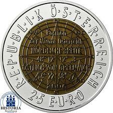 Österreich 25 Euro 2006 Handgehoben ( Hgh ) Niob/ Silber - Satellitennavigation