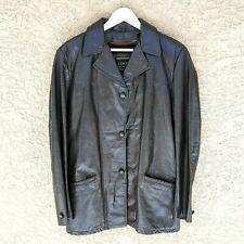 Men's Vintage COOPER Genuine Leather Jacket Size 38 w Brown Removable Liner **