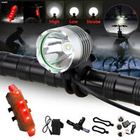 MTB T6 LED 8000 LM Cycling Front Bike Bicycle Head Light Torch Warning Taillight