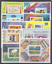 Liberia Sc C192/C220 MNH. 1972-78 issues, 10 different Air Mail souvenir sheets