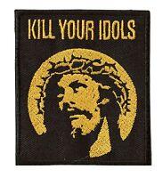 Patch écusson patche KILL YOUR IDOLS thermocollant Jésus brodé