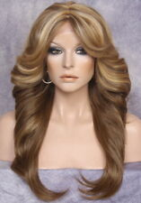 HEAT OK Lace Front WIG Realistic Blonde mix Layered Straight Hairpiece WYQ 2216