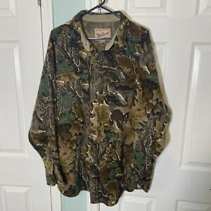 Vintage Woolrich 100% Wool Camoflage Hunting Heavy Button Shirt Mens Size 3XL