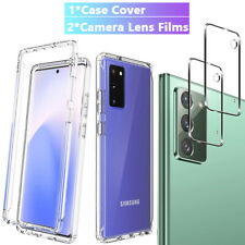 For Samsung Galaxy Note 20 Ultra Clear Slim TPU Case Cover+Camera Lens Protector