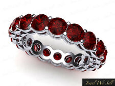 Eternity Band Ring 10k White Gold Aaa 6.45Ct Round Cut Ruby Shared Prong Gallery