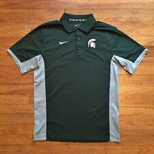 Michigan State Spartans Nike Dri-Fit NCAA Polo Shirt S MSU