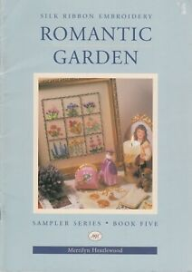 Romantic Garden silk ribbon embroidery pattern book  - several designs - 1996