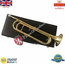 New Eb Cavalry Trumpet Brass Lacquer Finish Free Soft Leather Hard Carrying Case
