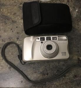 Minolta 110 Zoom Kleinbildkamera im  neuwertigen Funktionierenden Zustand !