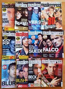 12x Musikexpress 1999 Zeitschrift Magazin Sammlung Hefte Jahrgang Pop Charts