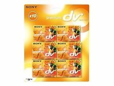 Sony Dvm60 Mini DV Premium 60min Recordable Cassette/tape for Camcorder PK 10