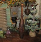 Prim Antique Vtg 1880 s GRAIN PAINTED JUGGLING Circus Club Exercise Bowling PIN