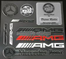 3D AMG Mercedes Benz Badge Emblem Logo Wheel Sticker A45 E63 S63 CLS63 G63 GL63