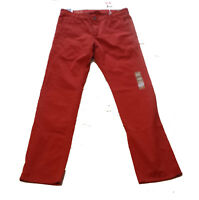 Dockers Men ALPHA Khakis Size 34W 34L Red 100% Cotton Slim Tapered  34x34