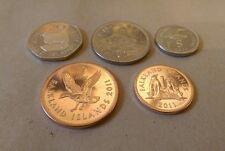 One, Two, Five,Ten,Twenty Pence Coin Falkland Islands UNC RARE 1, 2, 5,10, 20 p