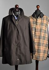 Ladies BURBERRY London Nova Check Lining Brown Coat Jacket it 44 uk 12 us 10