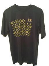 Under Armour Heat Gear Shirt Mens M Green Loose Short Sleeve Running Athletic