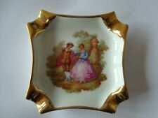 LIMOGES GOLD LUSTRE / VINTAGE ROMANTIC SCENE - COLLECTABLE / GREAT ITEM