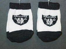 NFL Infant Socks, 12-18 mos, Oakland Raiders, 2 PAIR
