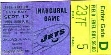 1964 INAUGURAL GAME @ SHEA STADIUM DENVER BRONCOS @ NEW YORK JETS TICKET STUB