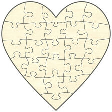 Blanc Bois -Jeux de Puzzle Coeur,24 Pièces,19x19 cm,du film Même Peindre et