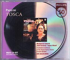 PUCCINI: TOSCA Montserrat Caballe Jose Carreras Wixell Ramey COLIN DAVIS 2CD