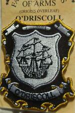 O'Driscoll Embroidered PATCH Coat of Arms Family Crest - Sew or Iron On