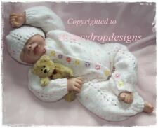 Honeydropdesigns * Echo * PAPER KNITTING PATTERN * Baby/Reborn 0-3 Months approx